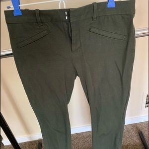 GAP Comfortable skinny ankle olive green pants